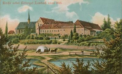 Hier sehen Sie das Rittergut (heute Rathaus) um 1855