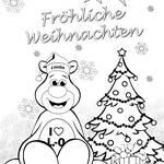 Ausmalvorlage Weihnachtslimbo