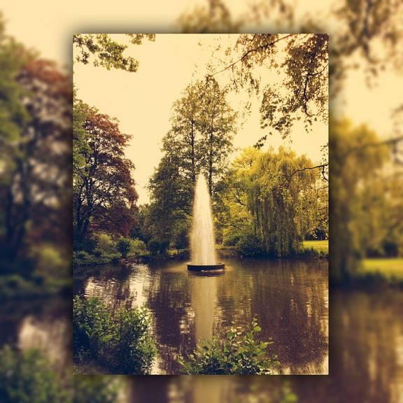 Stadtpark mit Fontäne